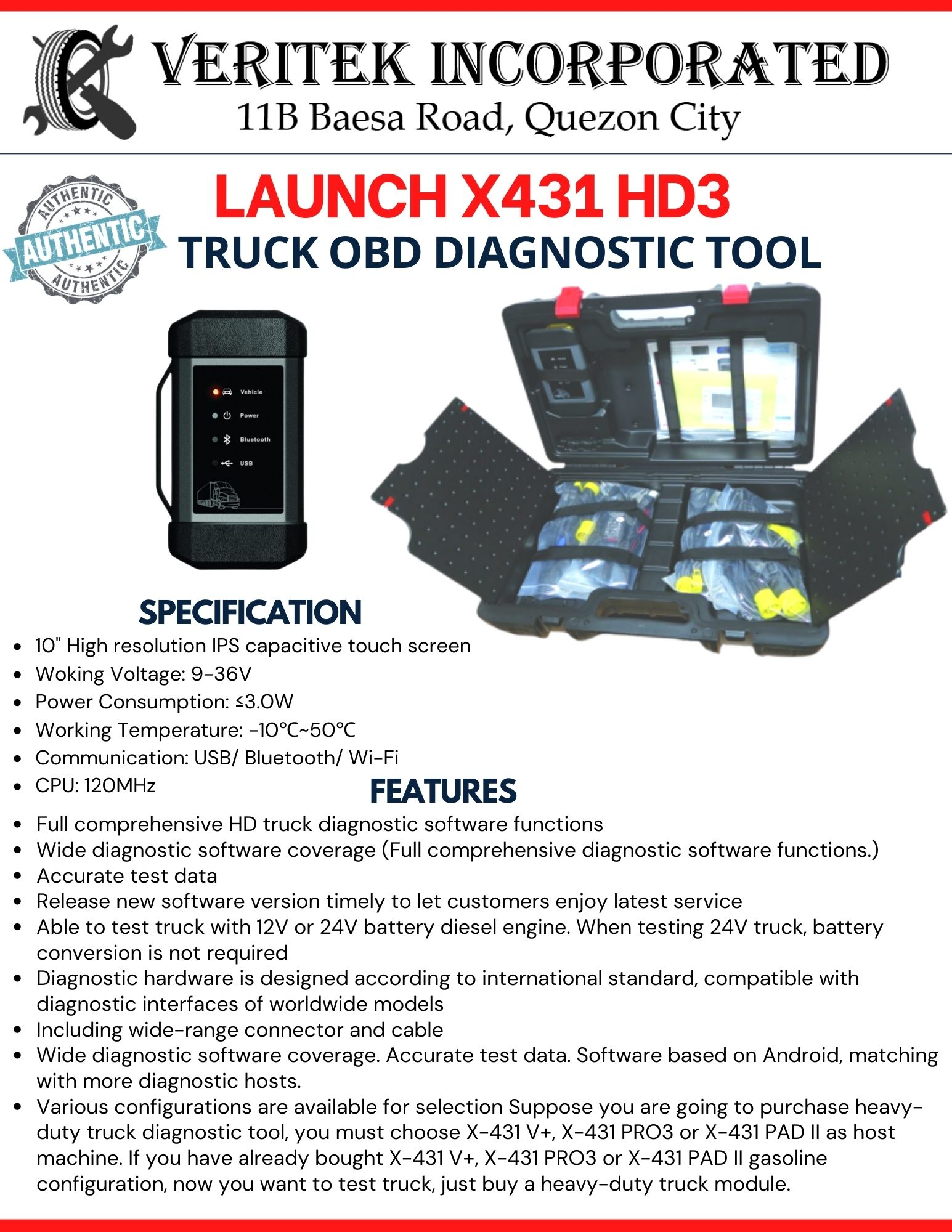 Launch X431 HDIII Module - Truck Scanner