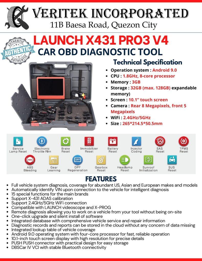 Launch X431 Pro3 V4 - Car Scanner (2021)