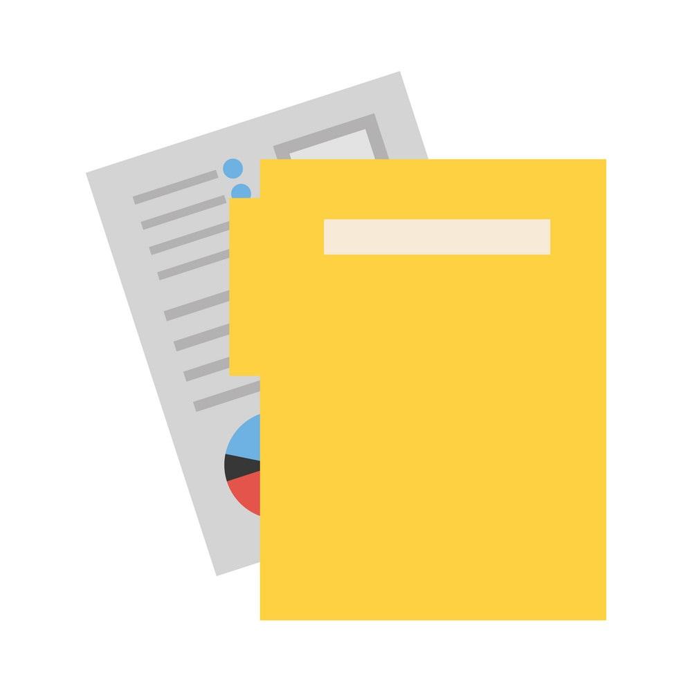 office folder file archive documents vector illustration